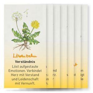 Kartenstapel Sonnenpflanzen aus dem cum corde Pflanzen Tarot