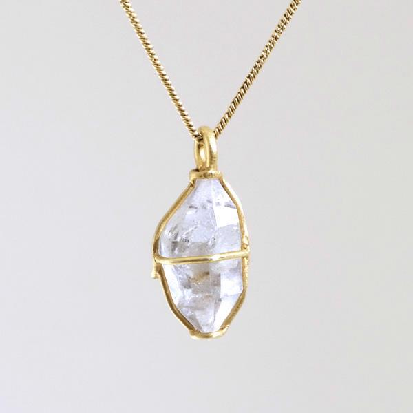 Herkimer Diamant in Gelbgold von Angelika Brinkmann